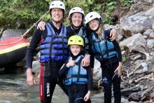 Rafting für die ganze Familie
